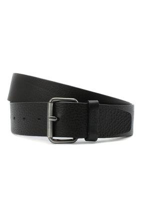 Мужской кожаный ремень BOSS черного цвета, арт. 50435466 | Фото 1