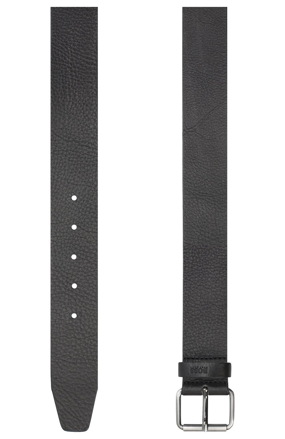 Мужской кожаный ремень BOSS черного цвета, арт. 50435466 | Фото 2