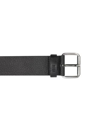 Мужской кожаный ремень BOSS черного цвета, арт. 50435466 | Фото 3