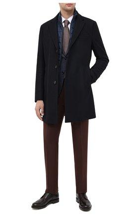Мужской шерстяное пальто BOSS темно-синего цвета, арт. 50438654 | Фото 2