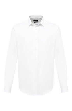 Мужская хлопковая сорочка BOSS белого цвета, арт. 50439551 | Фото 1