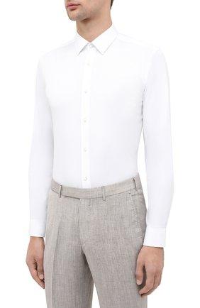 Мужская хлопковая сорочка BOSS белого цвета, арт. 50440261 | Фото 3