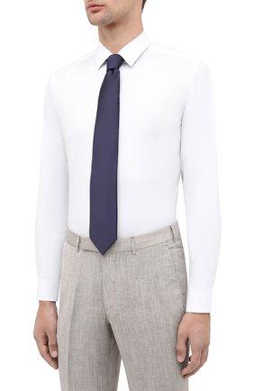Мужская хлопковая сорочка BOSS белого цвета, арт. 50440261 | Фото 4