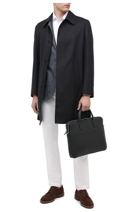 Мужская кожаная сумка для ноутбука BOSS черного цвета, арт. 50397344 | Фото 2