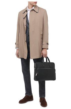 Мужская кожаная сумка для ноутбука BOSS черного цвета, арт. 50390384 | Фото 2