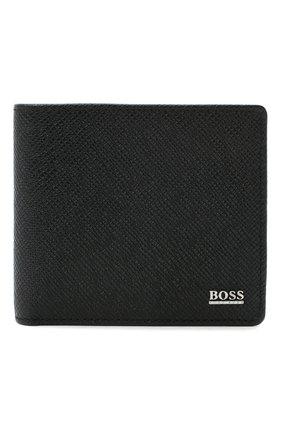 Мужской кожаное портмоне BOSS черного цвета, арт. 50311738 | Фото 1