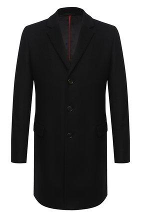 Мужской пальто из шерсти и кашемира HUGO черного цвета, арт. 50438437 | Фото 1