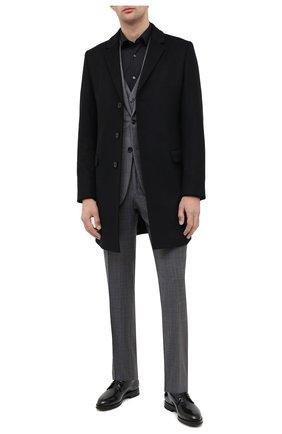 Мужской пальто из шерсти и кашемира HUGO черного цвета, арт. 50438437 | Фото 2