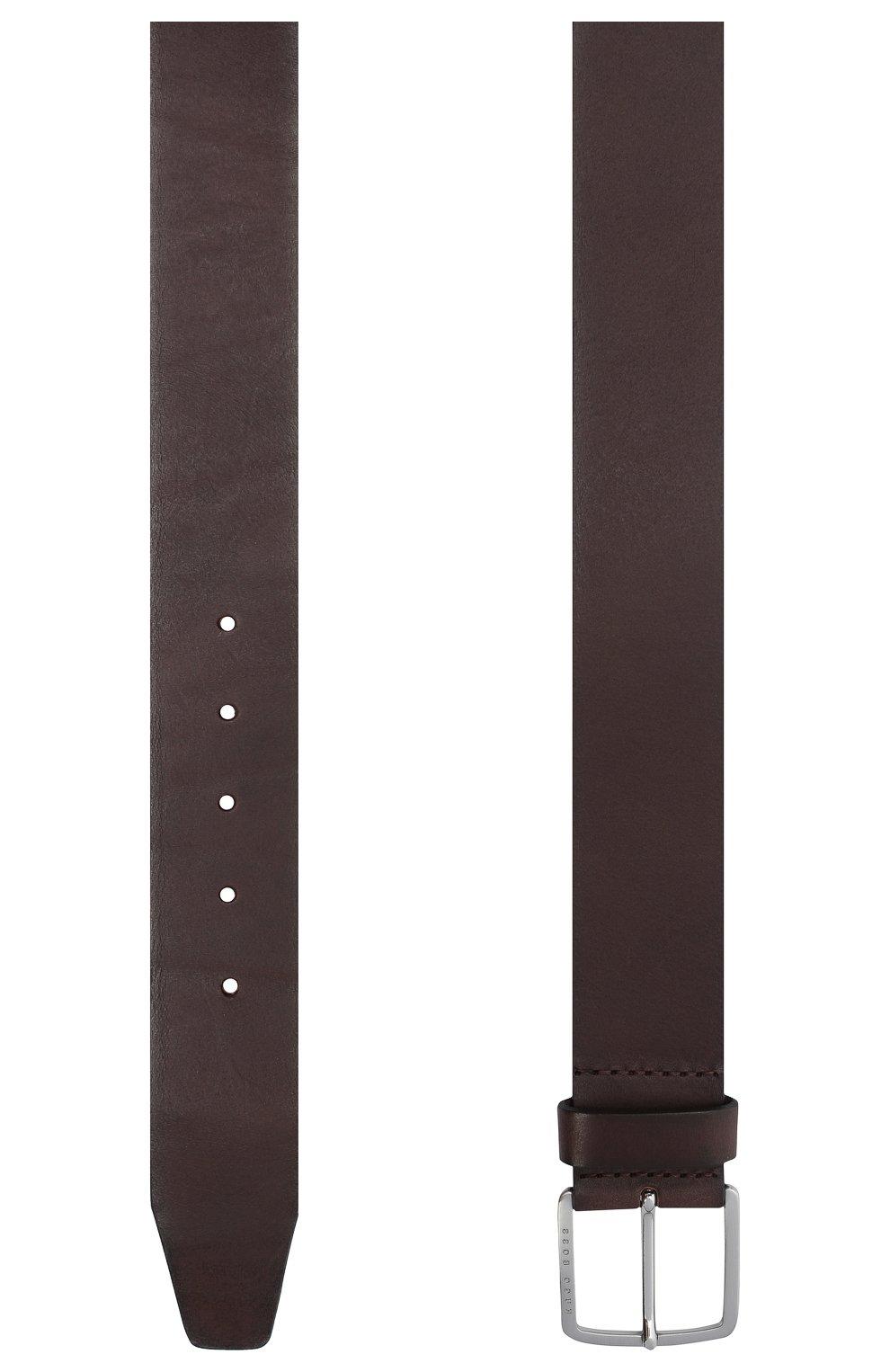 Мужской кожаный ремень BOSS коричневого цвета, арт. 50424683   Фото 2
