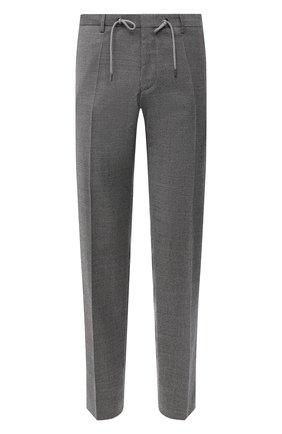 Мужской хлопковые брюки BOSS серого цвета, арт. 50440818 | Фото 1