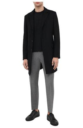 Мужской хлопковые брюки BOSS серого цвета, арт. 50440818 | Фото 2