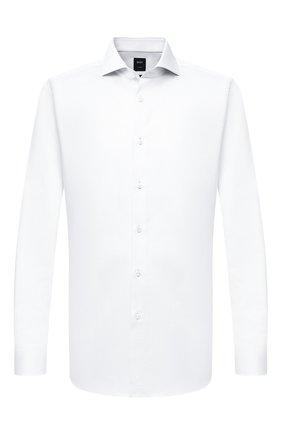Мужская хлопковая сорочка BOSS белого цвета, арт. 50440787 | Фото 1