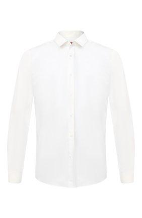Мужская хлопковая сорочка HUGO кремвого цвета, арт. 50418107 | Фото 1