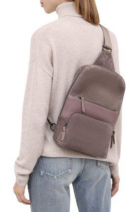 Женский рюкзак LORENA ANTONIAZZI бежевого цвета, арт. A2087B0003/425   Фото 2 (Материал: Натуральная кожа; Размер: mini; Ремень/цепочка: На ремешке; Стили: Кэжуэл)