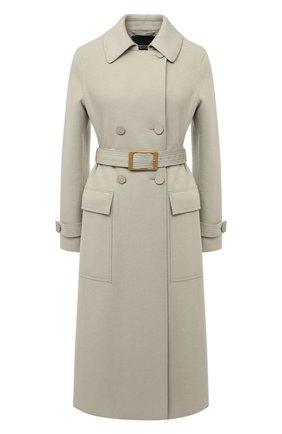Женское кашемировое пальто LORO PIANA светло-зеленого цвета, арт. FAL2290 | Фото 1
