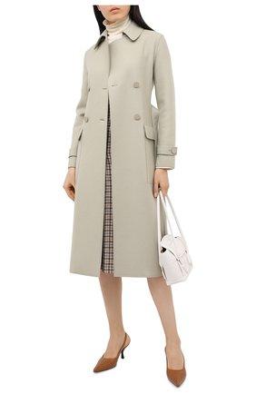 Женское кашемировое пальто LORO PIANA светло-зеленого цвета, арт. FAL2290 | Фото 2
