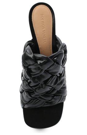 Женские кожаные мюли bv bold BOTTEGA VENETA черного цвета, арт. 630175/VBT10 | Фото 5