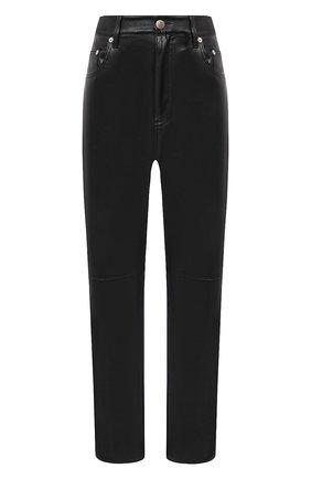 Женские брюки NANUSHKA черного цвета, арт. VINNI_BLACK_VEGAN LEATHER | Фото 1