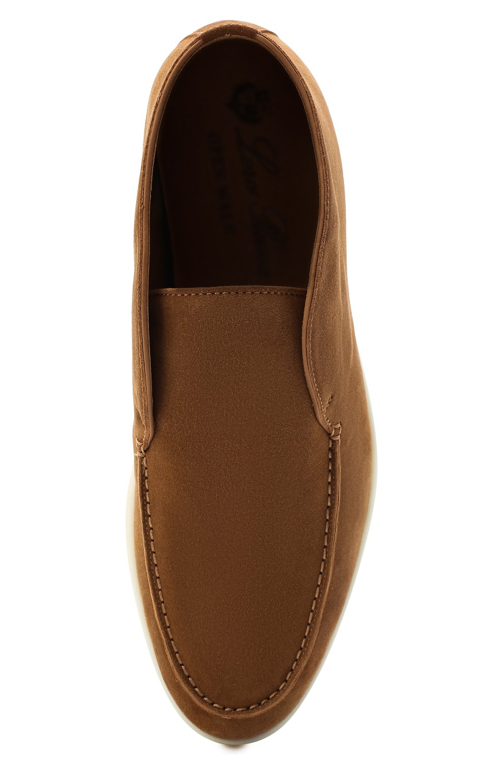 Женские замшевые ботинки open walk LORO PIANA коричневого цвета, арт. FAE9959 | Фото 5