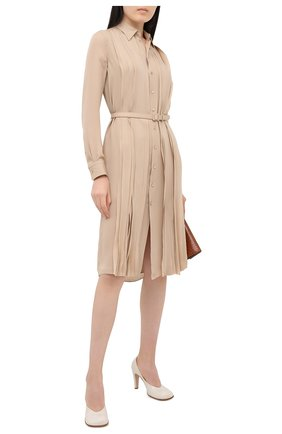 Женское шелковое платье RALPH LAUREN бежевого цвета, арт. 290815924 | Фото 2