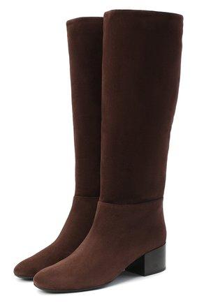 Женские замшевые сапоги SERGIO ROSSI коричневого цвета, арт. A86920-MCAZ01 | Фото 1