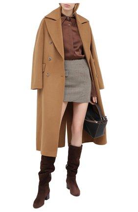 Женские замшевые сапоги SERGIO ROSSI коричневого цвета, арт. A86920-MCAZ01 | Фото 2