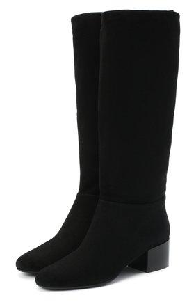 Женские замшевые сапоги SERGIO ROSSI черного цвета, арт. A86920-MCAZ01 | Фото 1