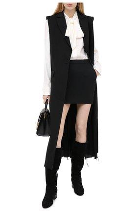 Женские замшевые сапоги SERGIO ROSSI черного цвета, арт. A86920-MCAZ01 | Фото 2