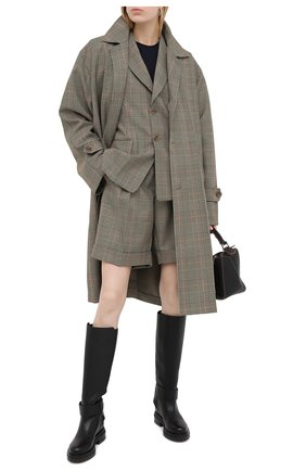 Женские кожаные сапоги logomaniac SERGIO ROSSI черного цвета, арт. A81120-MMVR13 | Фото 2
