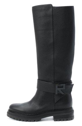 Женские кожаные сапоги logomaniac SERGIO ROSSI черного цвета, арт. A81120-MMVR13 | Фото 3