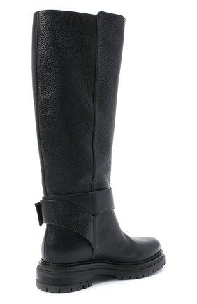 Женские кожаные сапоги logomaniac SERGIO ROSSI черного цвета, арт. A81120-MMVR13 | Фото 4