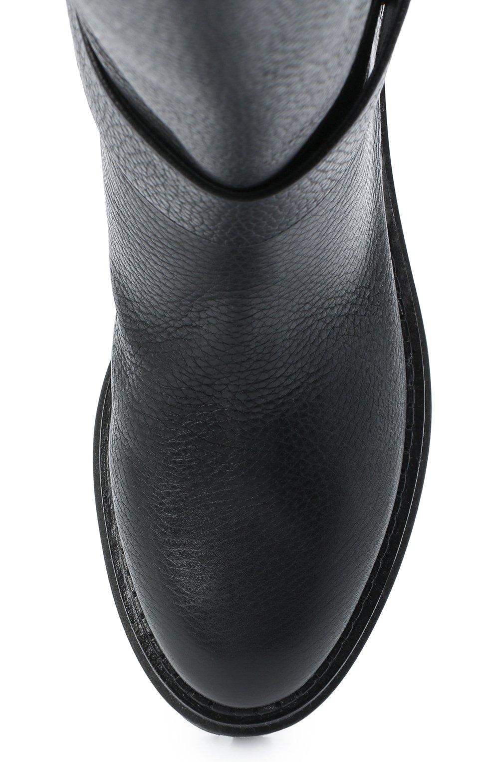 Женские кожаные сапоги logomaniac SERGIO ROSSI черного цвета, арт. A81120-MMVR13 | Фото 5