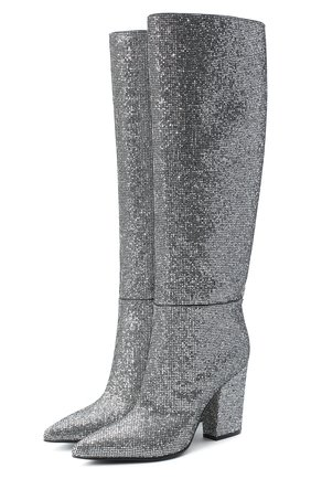 Женские сапоги sergio SERGIO ROSSI серебряного цвета, арт. A85442-MTEL27 | Фото 1