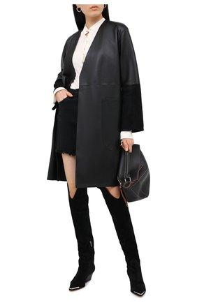 Женские замшевые сапоги carla SERGIO ROSSI черного цвета, арт. A91190-MCRM13 | Фото 2