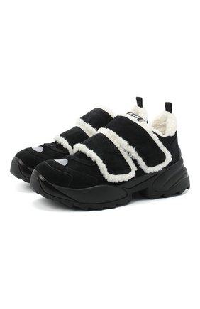 Женские замшевые кроссовки sergio extreme SERGIO ROSSI черного цвета, арт. A91760-MFI245 | Фото 1