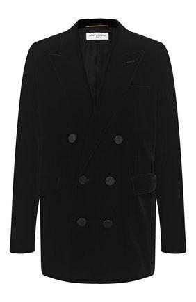 Женский жакет из вискозы SAINT LAURENT черного цвета, арт. 630873/Y525R | Фото 1