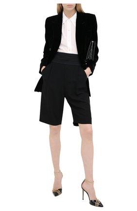 Женский жакет из вискозы SAINT LAURENT черного цвета, арт. 630873/Y525R | Фото 2