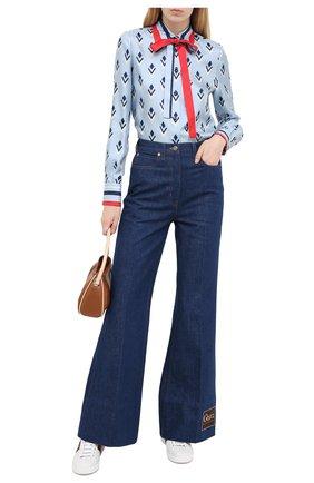 Женские джинсы GUCCI темно-синего цвета, арт. 623441/XDBCY | Фото 2