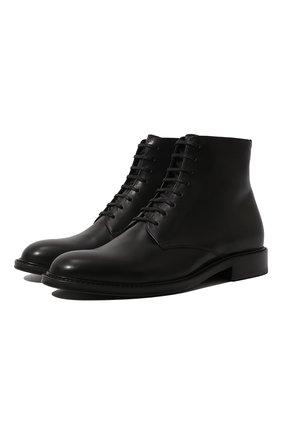 Женские кожаные ботинки army SAINT LAURENT черного цвета, арт. 632407/1YL00 | Фото 1