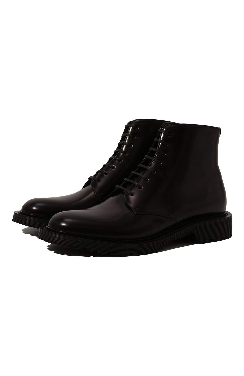 Женские кожаные ботинки army SAINT LAURENT черного цвета, арт. 632412/1Y000   Фото 1