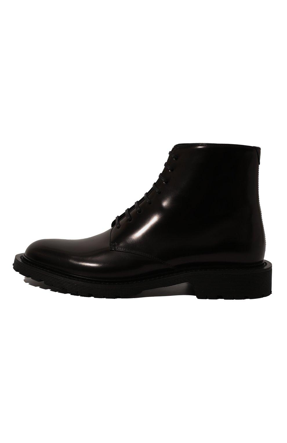 Женские кожаные ботинки army SAINT LAURENT черного цвета, арт. 632412/1Y000   Фото 4