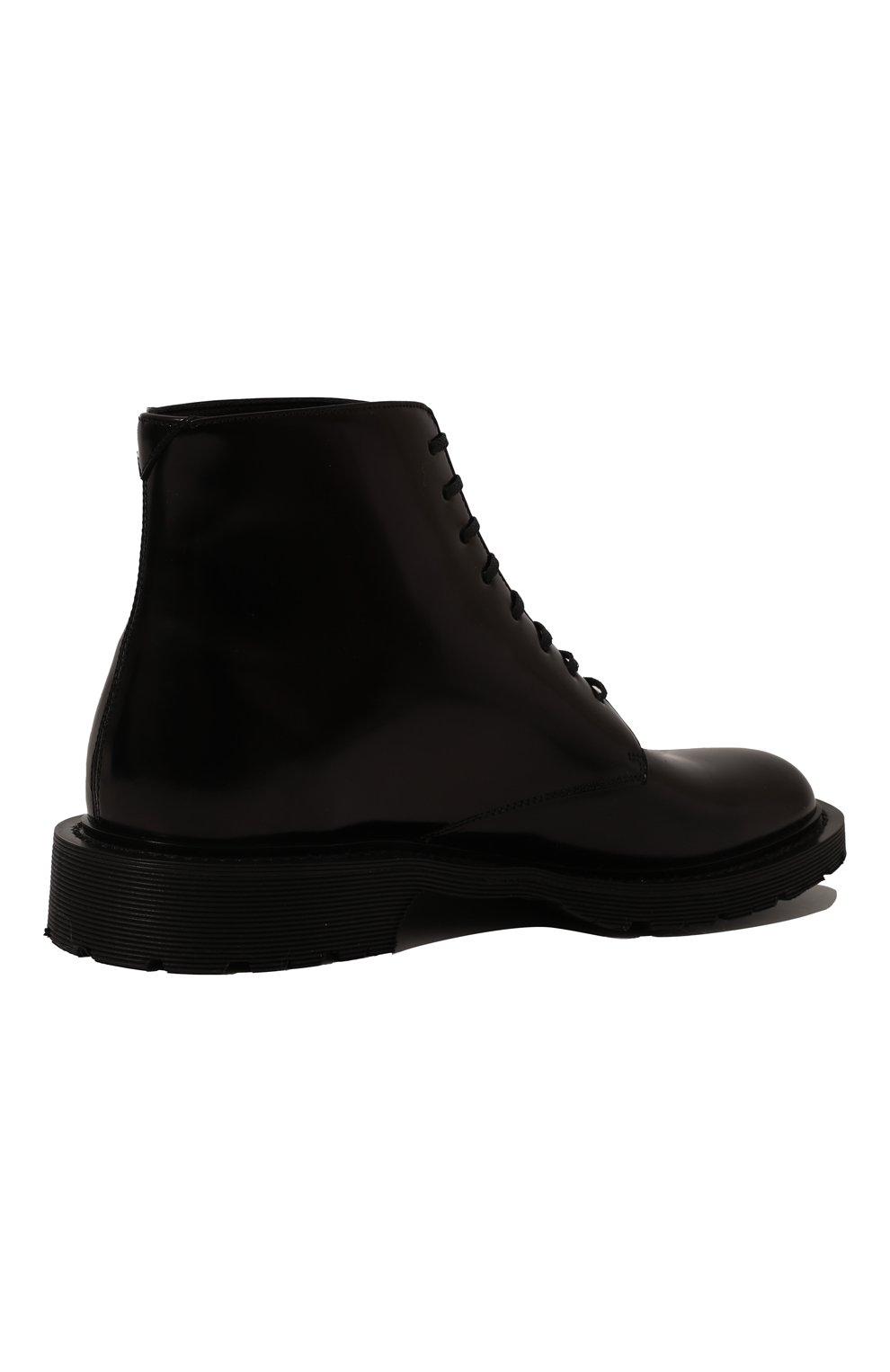 Женские кожаные ботинки army SAINT LAURENT черного цвета, арт. 632412/1Y000   Фото 5