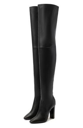 Женские кожаные ботфорты soixante seize SAINT LAURENT черного цвета, арт. 632494/1Y801 | Фото 1