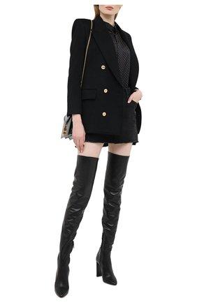 Женские кожаные ботфорты soixante seize SAINT LAURENT черного цвета, арт. 632494/1Y801 | Фото 2
