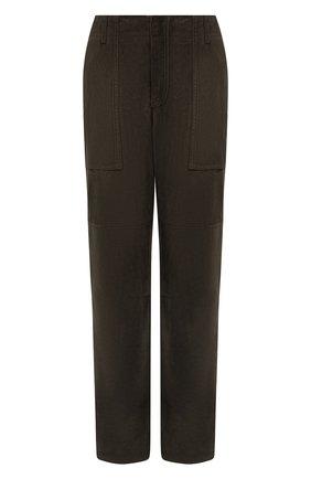Женские замшевые брюки TOM FORD хаки цвета, арт. PAL704-LEX226 | Фото 1