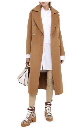 Женские текстильные ботинки trip GUCCI коричневого цвета, арт. 578585/G38H0 | Фото 2