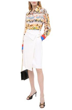 Женские кожаные мюли sylvie chain GUCCI черного цвета, арт. 626769/C9D00 | Фото 2