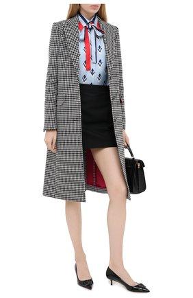 Женская кожаные туфли valentino garavani vlogo VALENTINO черного цвета, арт. UW2S0Q63/TMK | Фото 2