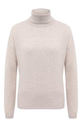 Женская кашемировый свитер ALLUDE бежевого цвета, арт. 205/11113 | Фото 1