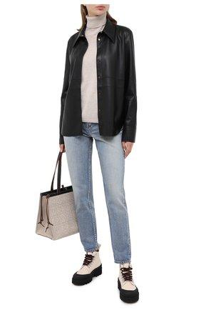Женская кашемировый свитер ALLUDE бежевого цвета, арт. 205/11113 | Фото 2